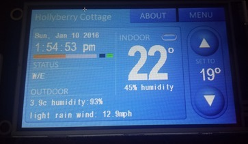 Nextion Node-Red Thermostat