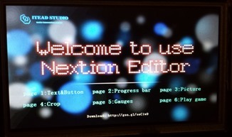 "Nextion 7"" display"
