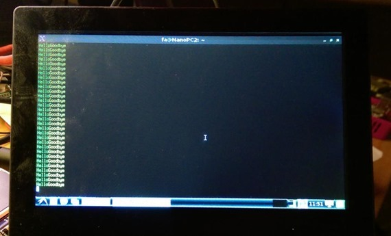 Terminal on Debian running serial