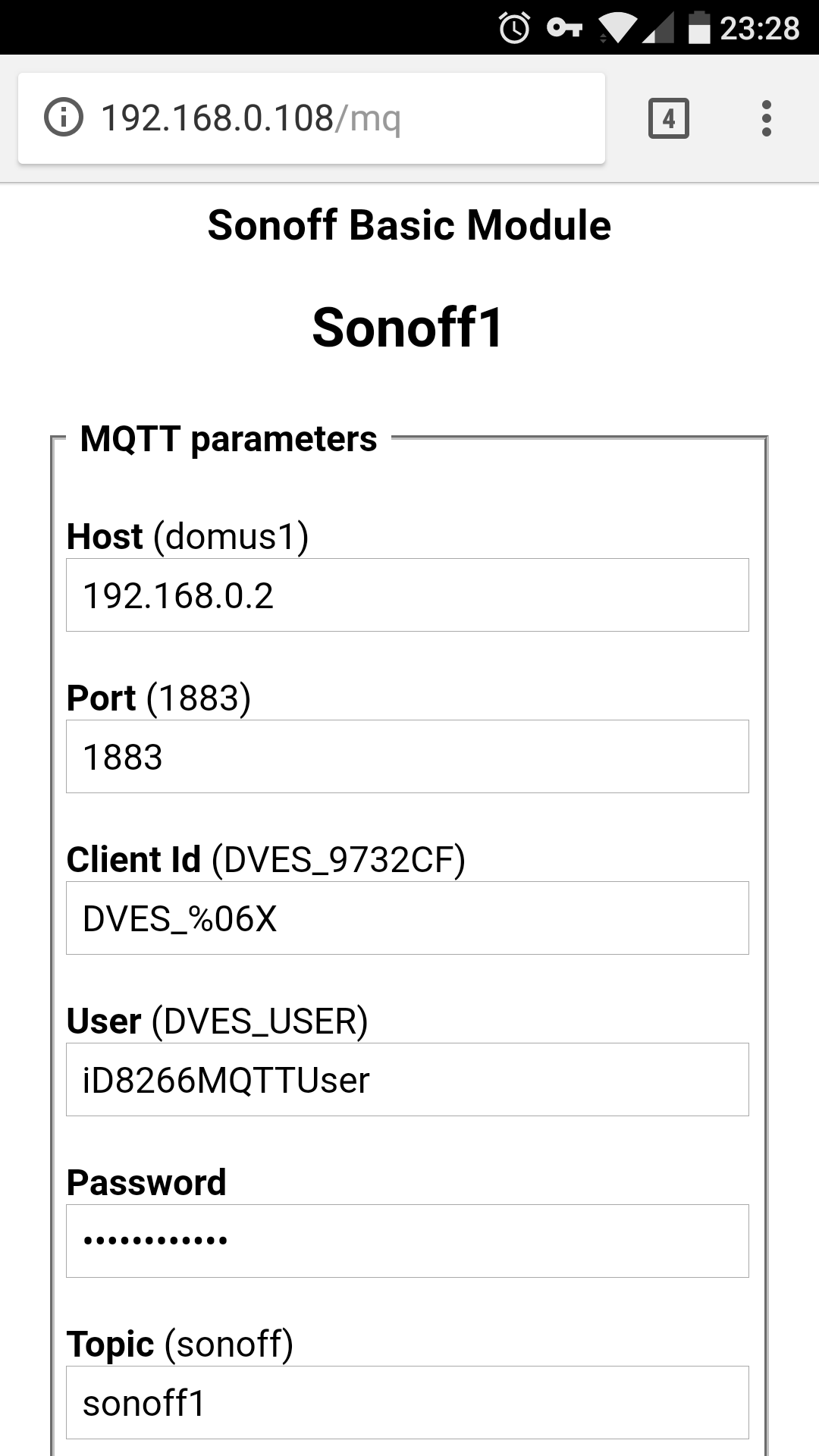 Sonoff 4ch 4 Channel Mains Control Scargills Tech Blog Tele 5 Way Switch Wiring Diagram Hmm Theres Not Much To It Be Honest So Im Sure What The Problem Might Heres A Screenshot Of Mqtt Page On One My Basics