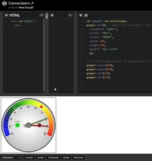 Working on the gauge in CodePen
