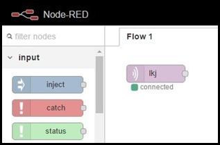 Node-Red running on a K10000 phone