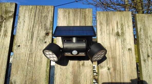 Solar 30 LED lamp in Scargill's garden