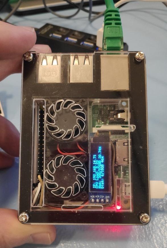Acrylic Case + Dual Fan + Copper Heatsink for RPI3 Model B