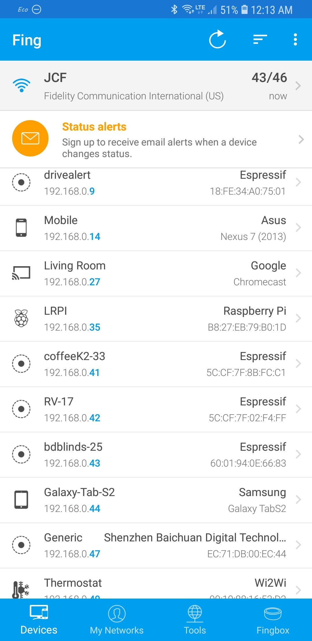 Devices recently connected to the network - Scargill's Tech Blog