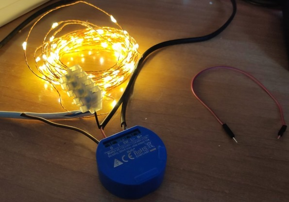 Shelly One and low-voltage LEDS as load using their own 12v supply