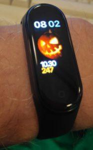 Halloween using MiBand 4 App