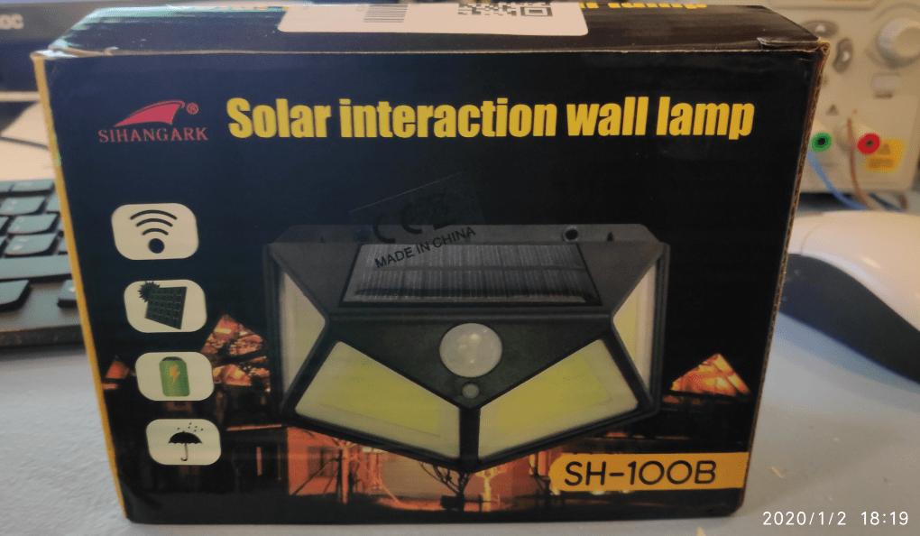 Solar lamp from Banggood