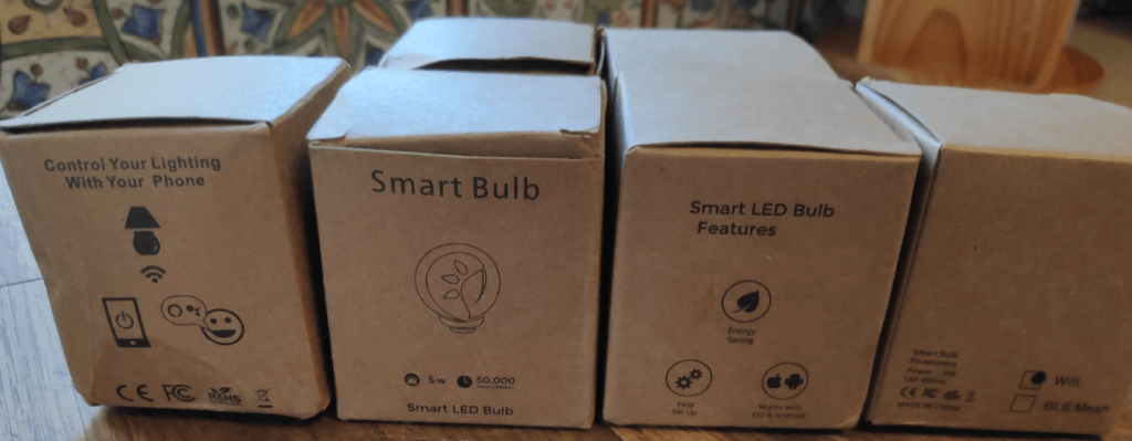Smart Bulbs in boxes from ZemiSmart - see info in picture
