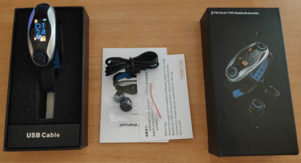T90 Smart Watch with Bluetooth earbuds
