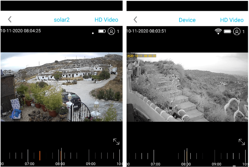 IP67 (left) and Minuteman (right) cameras - same location, same time.