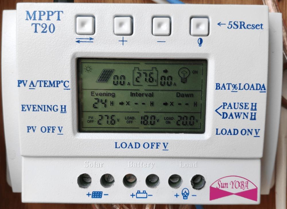 MPPT T20 Solar controller