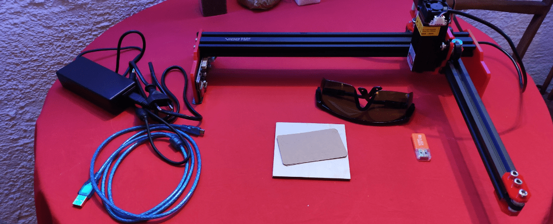 The completed laser engraver
