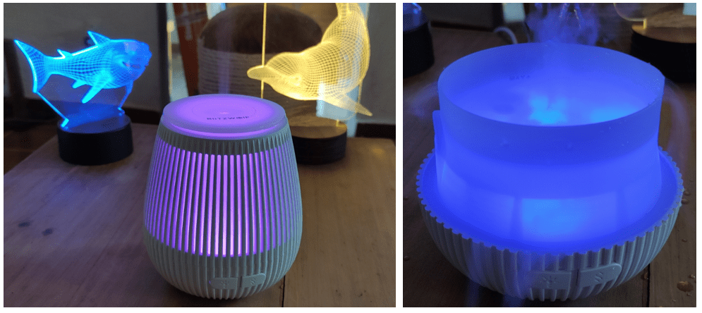 Blitzwolf Humidifier with and without the top on