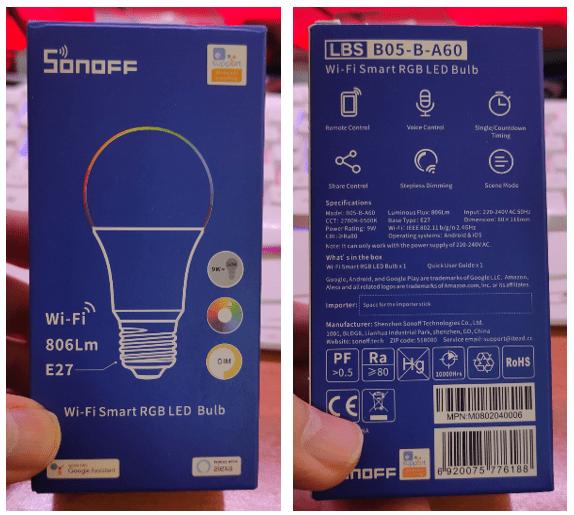 Sonoff B05 RGB Lamp