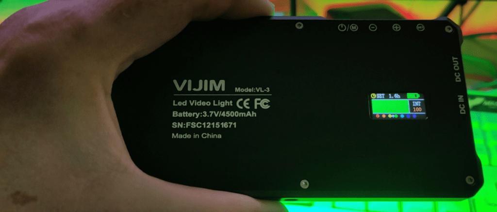 Playing with my new very bright pocket studio light - the Vijim VL-3