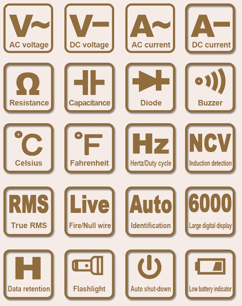 ET8134 Multimeter features