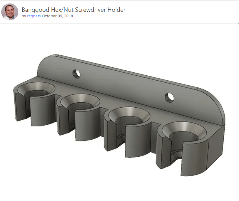 Tool holders printed on the Anycubic Mono printer