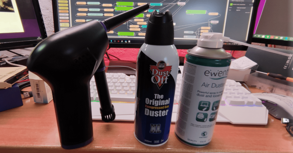201 Air Blower versus Dust-off and Ewent