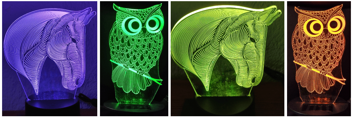 Solar Owl and Horse from Banggood