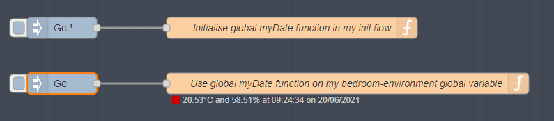 Initialising and using a Node-Red global function on a global object