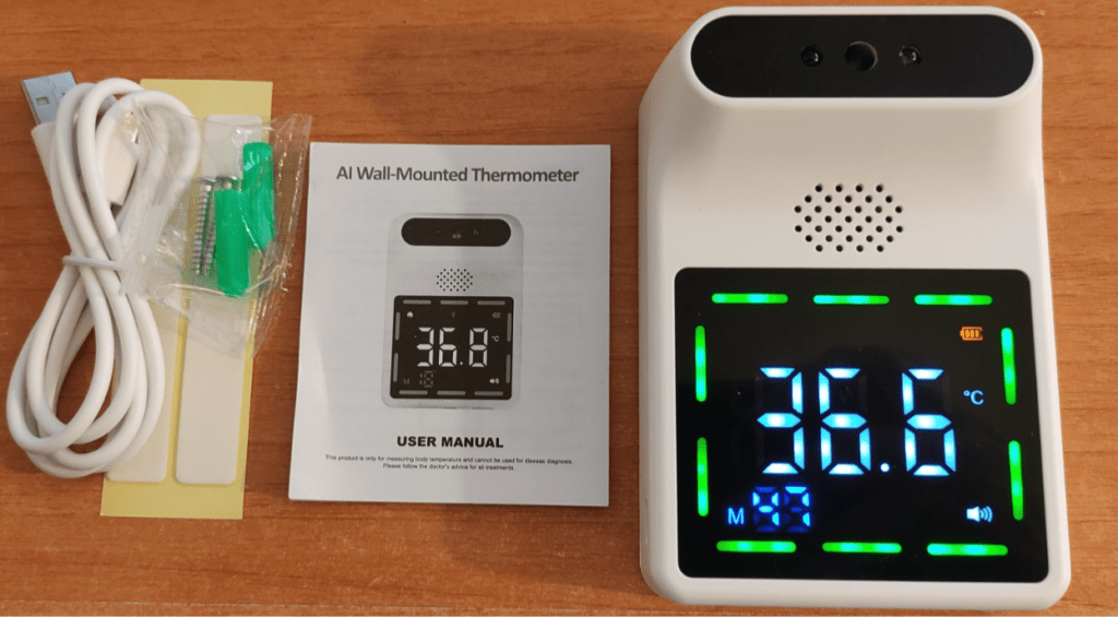 AI Wall-mounted thermometer