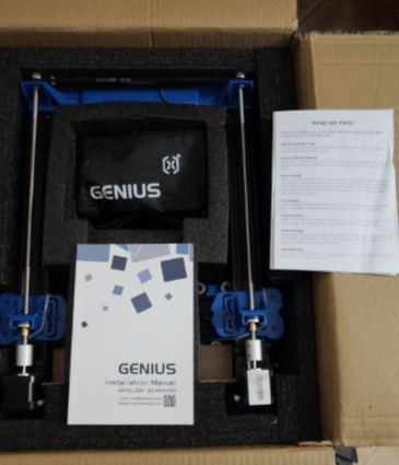 Genius packaging and manual front cover