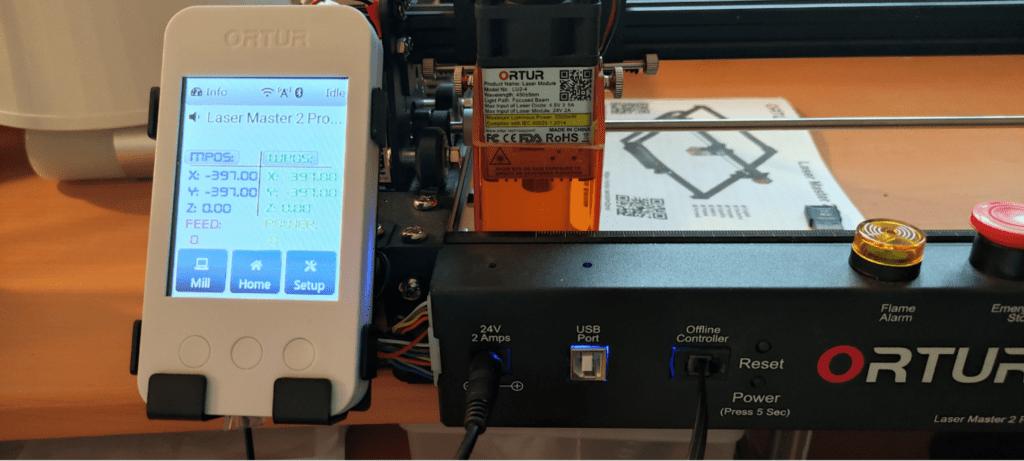 Ortur Laser Master 2 Pro - optional accessories - the offline controller